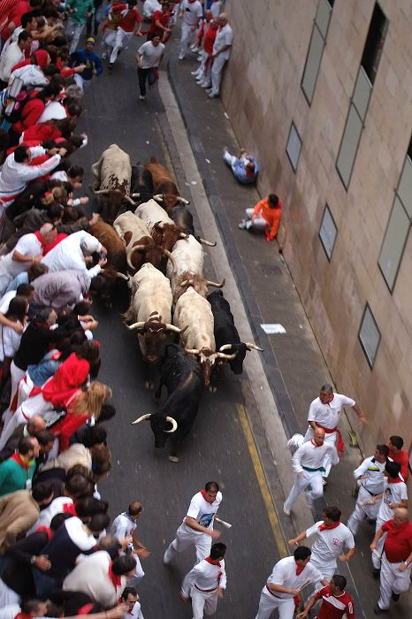 Bullrun in Pamplona