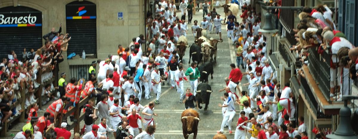 balcony over Pamplona bullrun