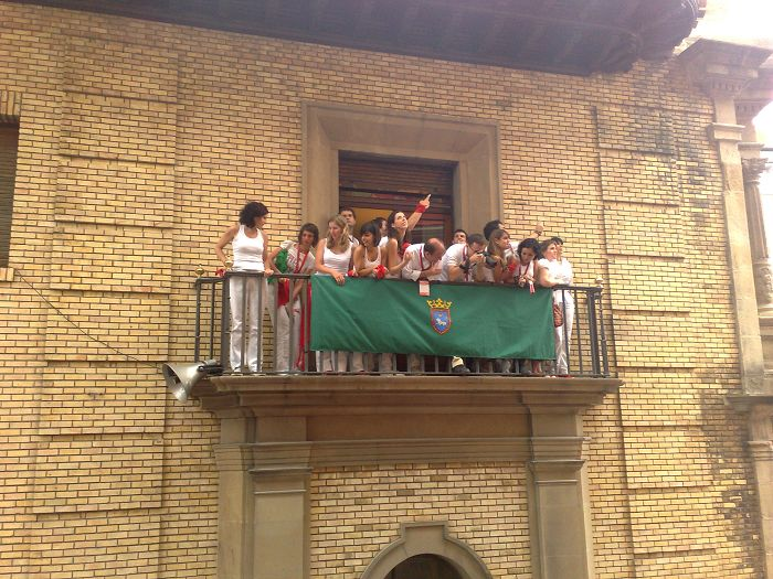 Balcony to enjoy Encierro in Pamplona